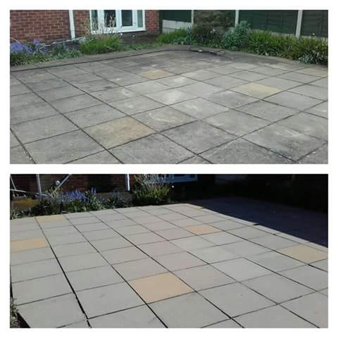 Concrete Paving Patio Cleaning - Moreton, Wirral