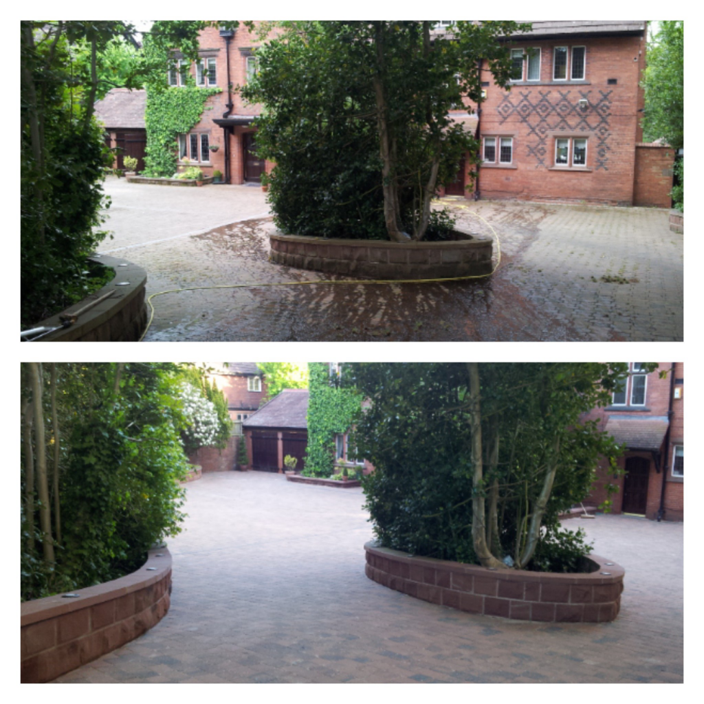 Rumbled Block Paving Cleaning and Resanding - Oxton, Wirral