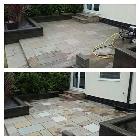 Indian Sandstone Cleaning and Rejointing - Westkirby, Wirral