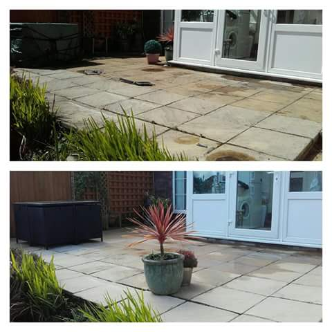 Concrete Paving Flag Cleaning - Prenton, Wirral