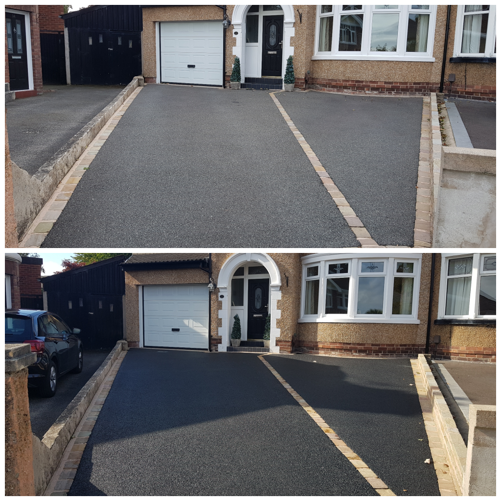 Tarmac Restoration - paint removal